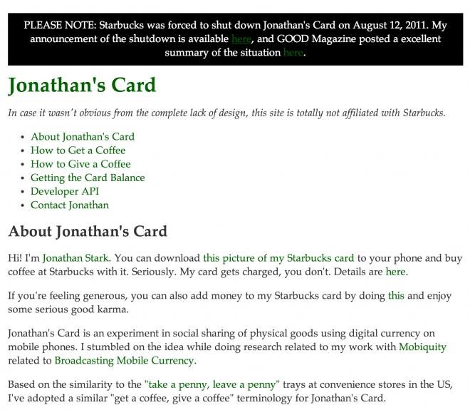 jonathan's card